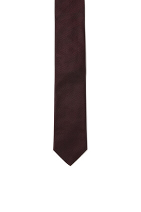 ربطة عنق حرير بخطوط بنفس اللون