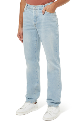 بنطال جينز بلون باهت