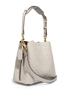 حقيبة باكيت ويلو جلد بشعار الماركة