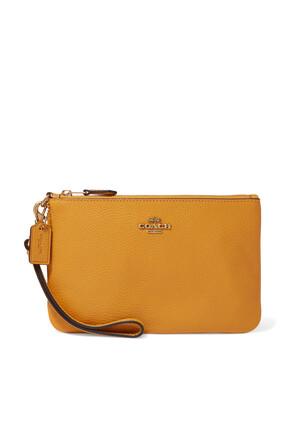حقيبة معصم صغيرة جلد بملمس حبيبي