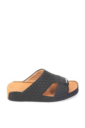 حذاء مفتوح جلد بتصميم مبطن