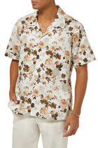 قميص بولينغ بنقشة زهور