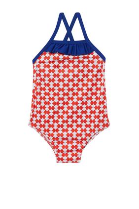 لباس سباحة قطعة واحدة جافا ريد بنقشة وودستوك
