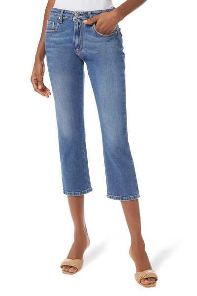 بنطال جينز قصير مرصع بالكريستال