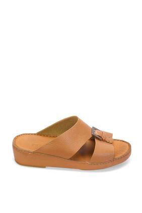 حذاء مفتوح جلد