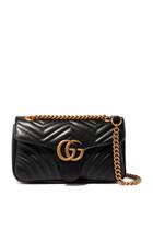 حقيبة كتف مارمونت صغيرة بتصميم مبطن وشعار GG