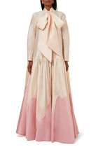 فستان ستان مطرز