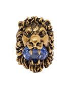 خاتم بتصميم رأس أسد