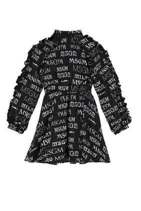 فستان مزين بنقشة