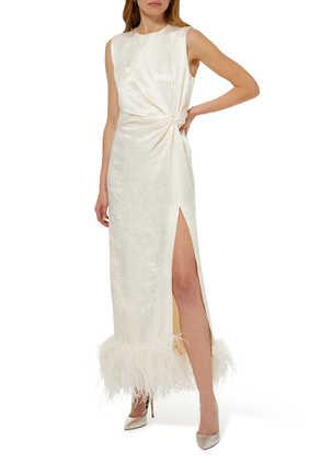 فستان أكيكو متوسط الطول