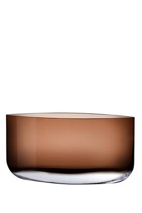 DJ Vase Nude Blade Caramel H300mm:Light/Pastel Brown:One Size