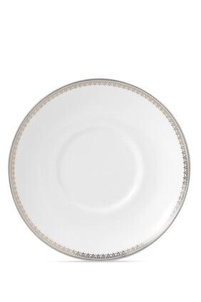 طبق فنجان إسبريسو فيرا وانغ ليس بلون بلاتيني 12.5 سم