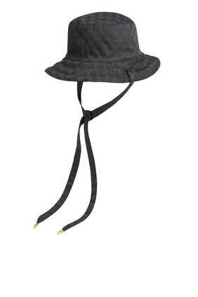 قبعة قنب بوجهين وشعار حرفي GG