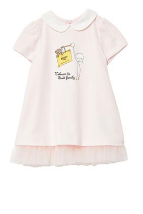 فستان قطن بحياكة ميلانو