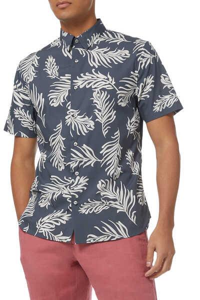 قميص قطن بطبعة سعف النخيل