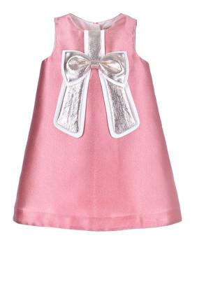 فستان مزين بعقدة لامعة