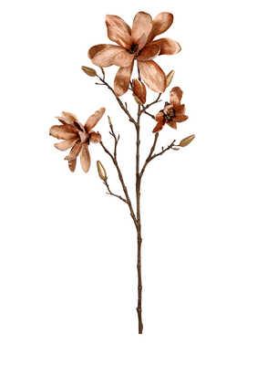 زهور ماغنوليا مفتحة مخمل صناعية