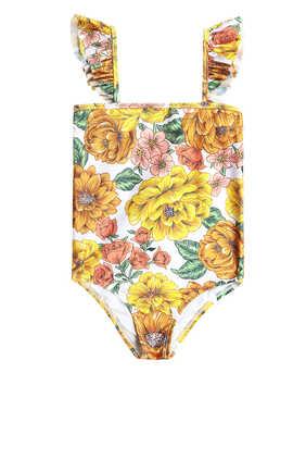 لباس سباحة بوبي قطعة واحدة بأكتاف كشكش