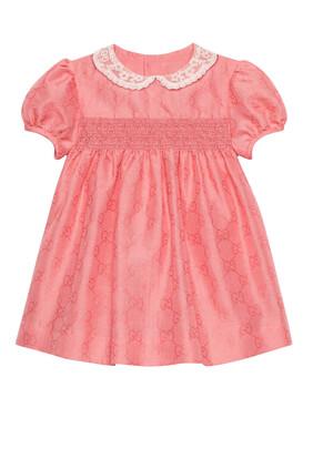 فستان قطن جاكار بنقشة حرفي GG