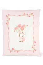 بطانية للأطفال الرضع بطبعة أرنب صغير