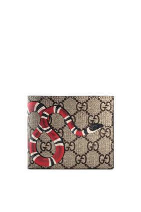 محفظة سوبريم بشعار حرفي GG وطبعة أفعى