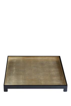 صينية وندسور بتصميم مربع من رقائق الفضة