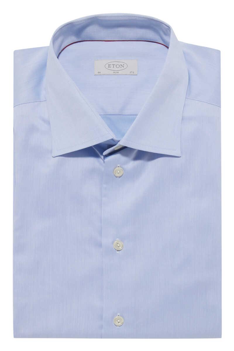 قميص كامبريدج تويل بقصة ضيقة image number 1