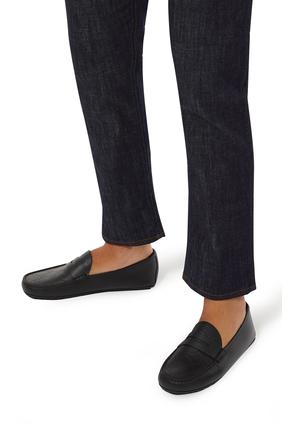 حذاء درايفر بنقشة شعار غوتشي