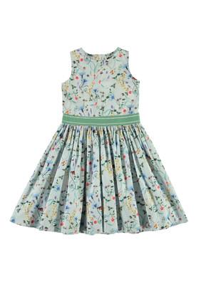 فستان بطبعة زهور برية