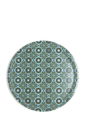 IDO Round Tray ANDALUSIA 38 cm:Multi Colour:One Size