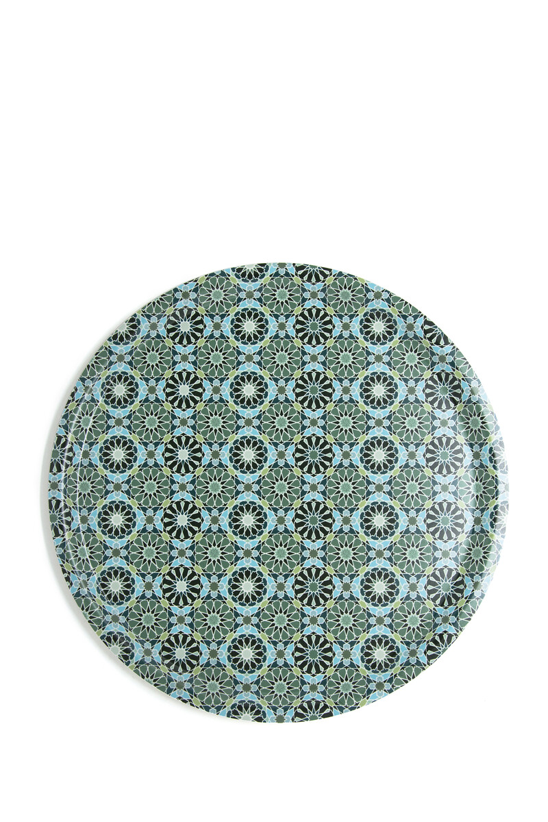 IDO Round Tray ANDALUSIA 38 cm:Multi Colour:One Size image number 1