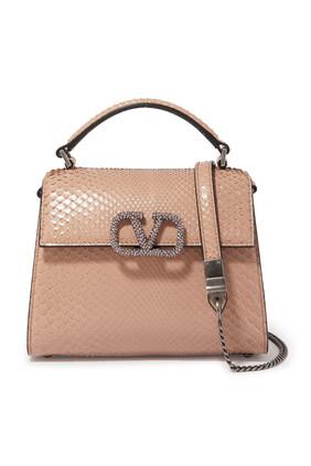حقيبة فالنتينو غارافاني بشعار الماركة جلد
