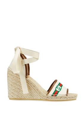 حذاء إسبادريل بنعل سميك وشعار الماركة