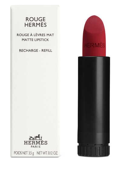 مجموعة أحمر الشفاه Rouge Hermès, عبوة لإعادة ملء أحمر الشفاه بتركيبة مات غير لامع