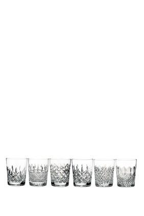 طقم أكواب قصيرة وترفورد ليزمور بتصميم كلاسيكي، 6 قطع