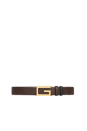حزام بوجهين وإبزيم مربع على شكل حرف G