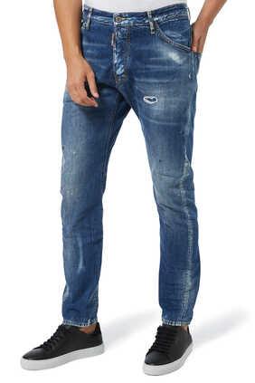 بنطال جينز دينم أزرق