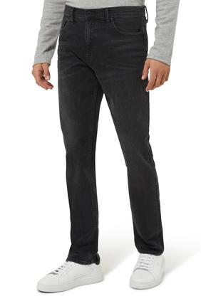 بنطال جينز دينم بقصة ساق مستقيمة