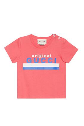 تي شيرت قطن بطبعة Original Gucci