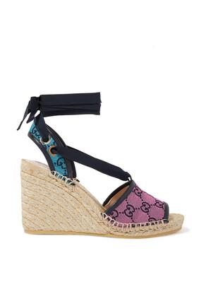 حذاء إسبادريل بنعل سميك وشعار GG