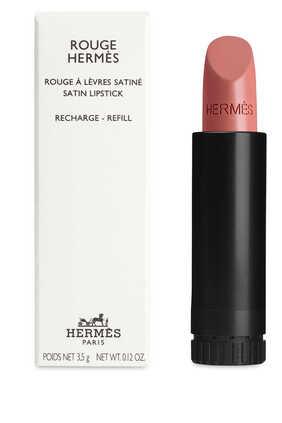 مجموعة أحمر الشفاه Rouge Hermès, عبوة لإعادة ملء أحمر الشفاه بتركيبة ساتانية