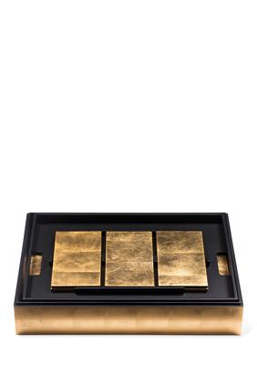 طقم أدوات المائدة غراند مات بوكس من رقائق الذهب