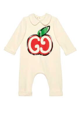 بيجاما قطعة واحدة بطبعة تفاحة وحرفي GG