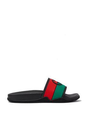 حذاء مفتوح بشعار حرفي G