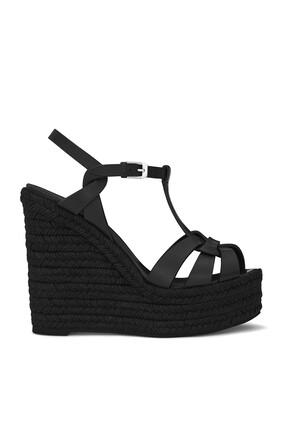 حذاء إسبادريل تريبيوت جلد ناعم بكعب ويدج