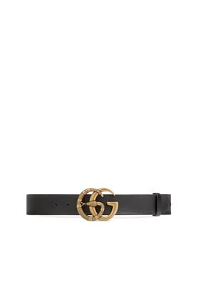 حزام بإبزيم بتصميم حرفي GG متداخلين أحدهما على شكل أفعى