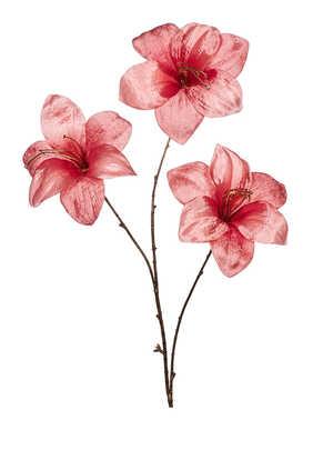 زينة بتصميم زنبق بساق لشجرة الكريسماس