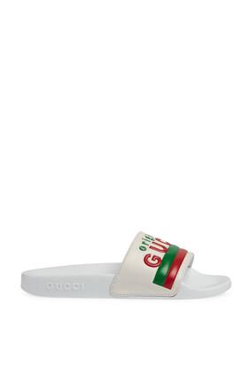 حذاء مفتوح بشعار Original Gucci