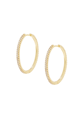 LARGEPAVE 360 HOOPS:Silver:One Size
