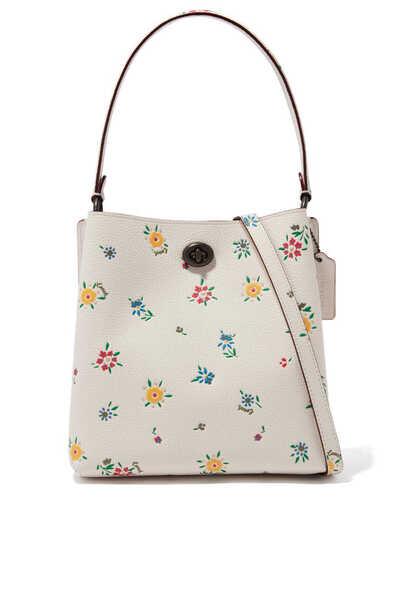 حقيبة باكيت تشارلي 21 جلد بنقشة زهور برية